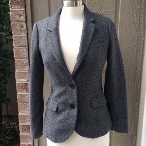 H&M Tweed Blazer elbow patches Grey 6
